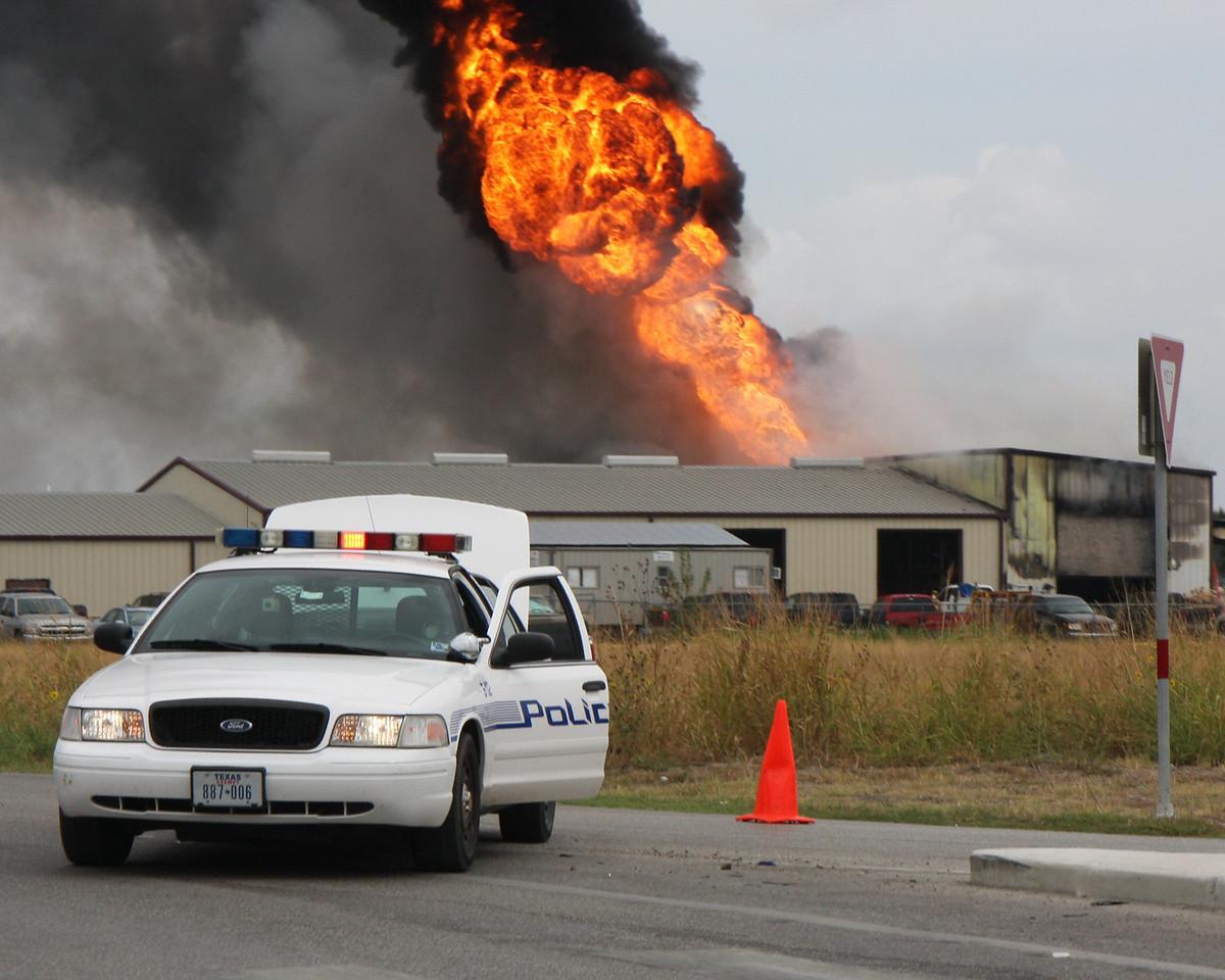 Industrial Fire in Cibolo TX