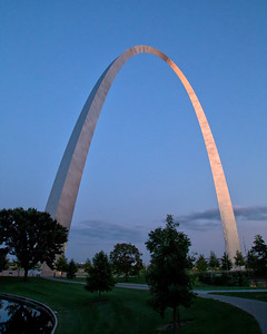 Last light on the Arch