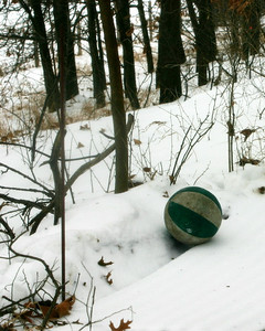 Ari's ball on his resting place.