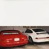 My garage c. 1996. One 1993 Porsche 911 and a 1996 Viper.