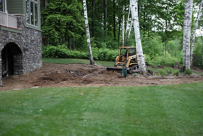 Start of construction - clearing for water feature