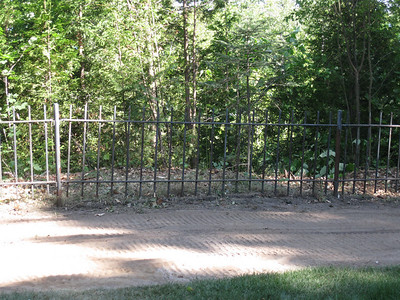 Cleared out area beyond fence (lot line)