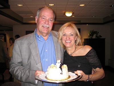 Anniversary cake presented to us