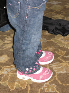 Emily and her pink shoes