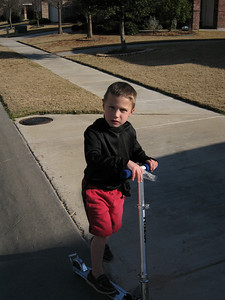 Jacob and his scooter