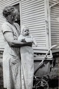 With Grandma Laura Daniels