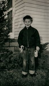 Early spring 1954; Bobby's first day at school 1st grade