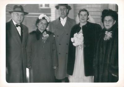 Grandpa Cupidro, Grandma Carlander, Dad, Mom and Grandma Cupidro