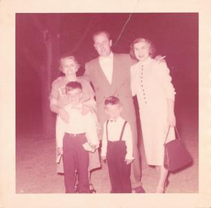 Grandma Carlander, Dad, Mom, Bill and Mitch
