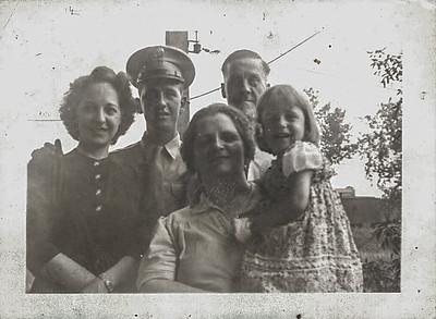 Aunt Dorothy, Dad, Grandma Carlander, Grandpa Carlander and Dell Marie