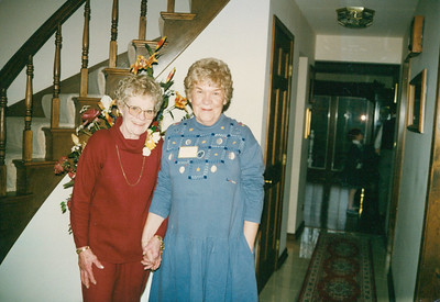 Mom and our neighbor Marilyn Tolzien