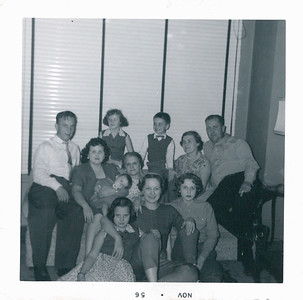 Pokorny Family (Dad's Sister),  Grandma Carlander, Mom, Dad and Bill, Aunt Dorothy (Dad's Sister) and her daughter Dell Marie