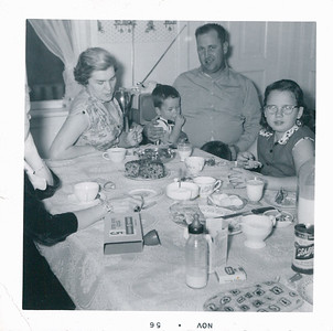 Mom, Mitch (what's with the thumb ?), Dad, Cousin Patsie Pokorny