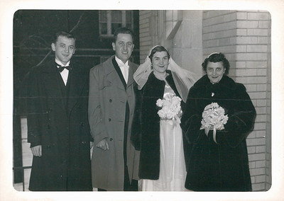 Uncle Vince, Dad, Mom and Audrey (Mom's Friend)