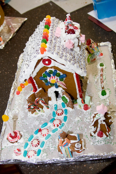 December 24th 2009<br /> <br /> Hello Everyone! I know I haven't written in awhile but I wanted to share my Christmas with you. Here is a gingerbread house we made.