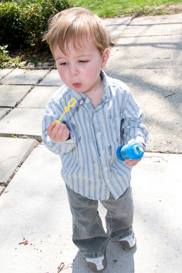 Later Mommy took me out to blow bubbles.