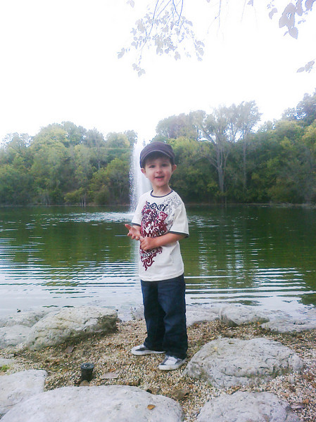These photos are all old but I just loaded them on the computer from my phone. The quality therefore is not that great. This is Cayden at the Rotary Botanical Gardens in Janesville.
