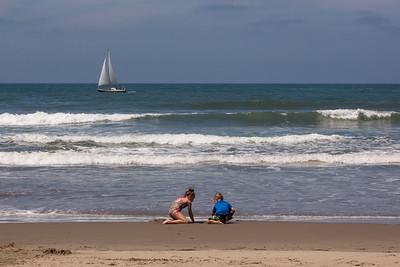 Blake and Hailey at the Beach - Summer 2015