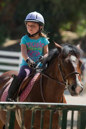 Hailey Horseback Riding and Swimming July 2013