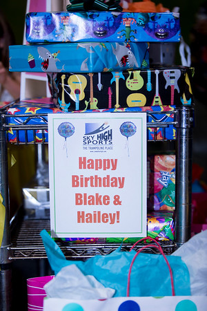 Hailey (age 8) and Blake (age 5)  Birthday Party