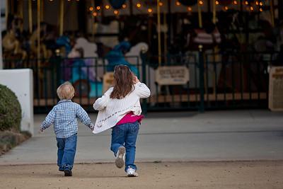 Santa Barbara Zoo, Park, Carousel January 2012