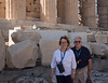 Jim and Fran at the Parthenon (it was very windy!)