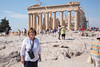 Fran at the parthenon
