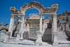 The Temple of Hadrian dates from the 2nd century but underwent repairs in the 4th century and has been reerected from the surviving architectural fragments.