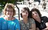 Fran, Josie, Angie outside Hagia Sophia