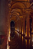 Basilica Cistern  <br />  sixth-century columns and vaulted ceilings; the largest of several hundred ancient water reservoirs beneath the city's surface.