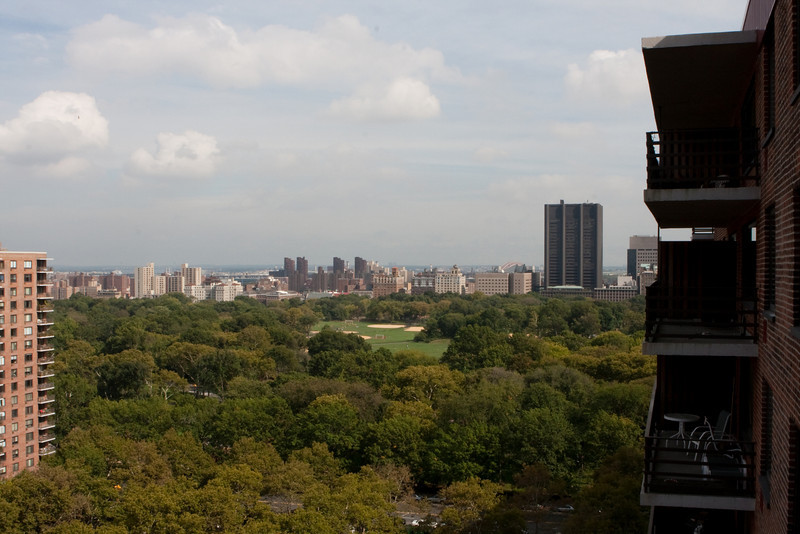 September 23, 2009. View of Central Park, and beyond. The tall building to the right is Mt. Sinai.