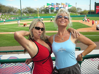 Me and Cyndi - Braves Spring Training 2009