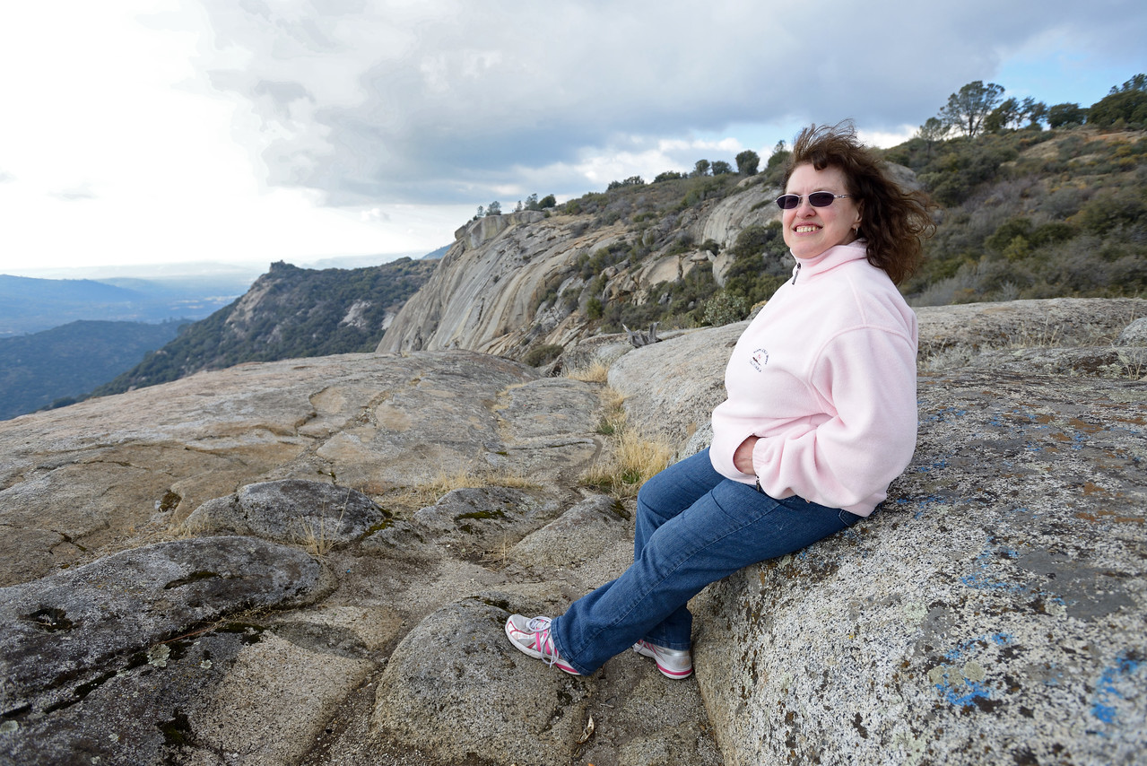 2014-02-01 15-11-01 - -02-01 15-11-01 - Theresa atop of Tollhouse Rock 2-1-2014