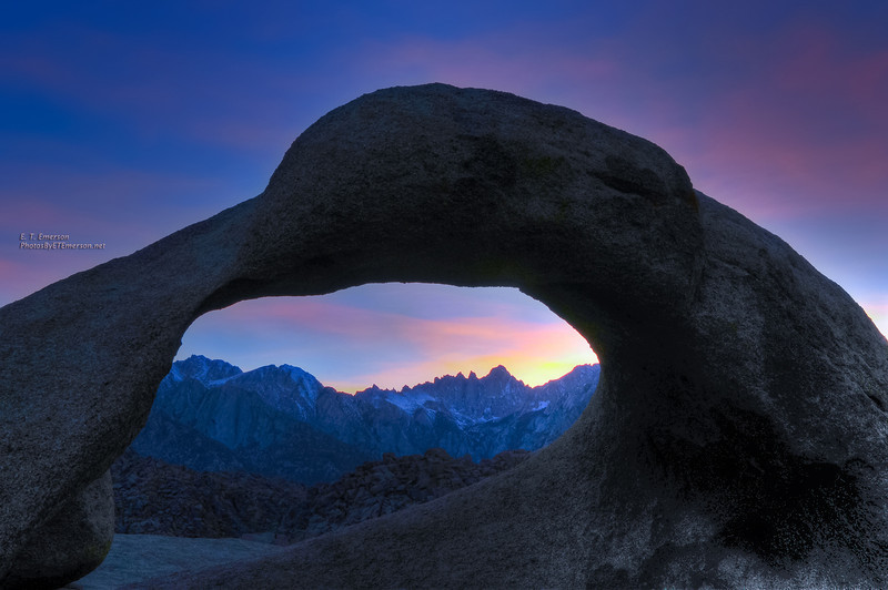 Mobius Arch Sunset