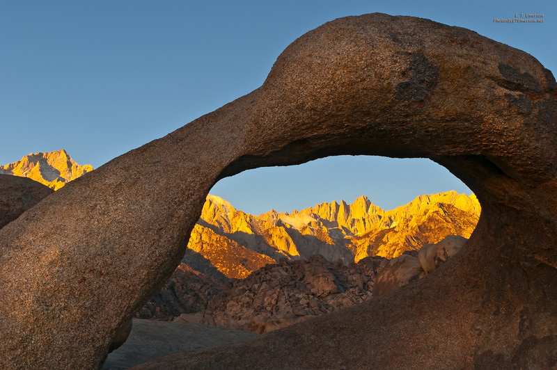 Sunrise at Mobius Arch