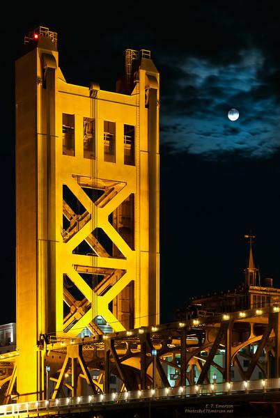 Tower Bridge Under a Full Moon