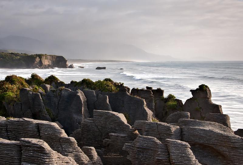 Pancake Rock Beach, NZ
