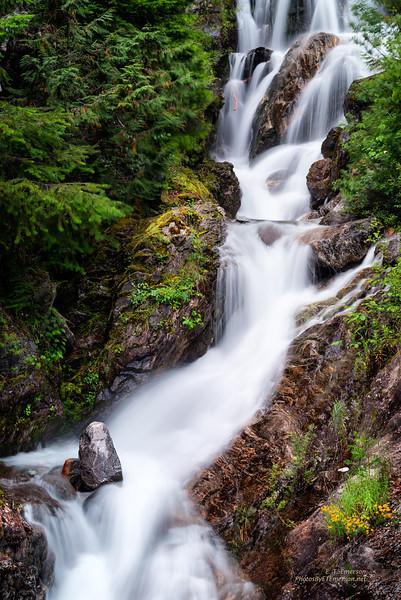 Waterfall along North Cascade Hwy