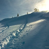 Snow Shoe Tracks and Blowing Snow
