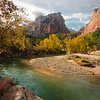 Virgin River Running Through Zion Canyon
