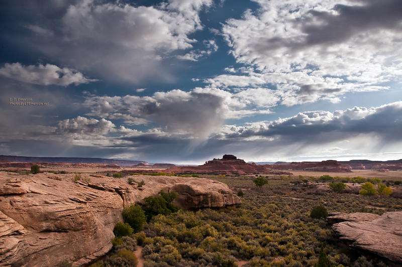 Rain Clouds cover the Canyonlands