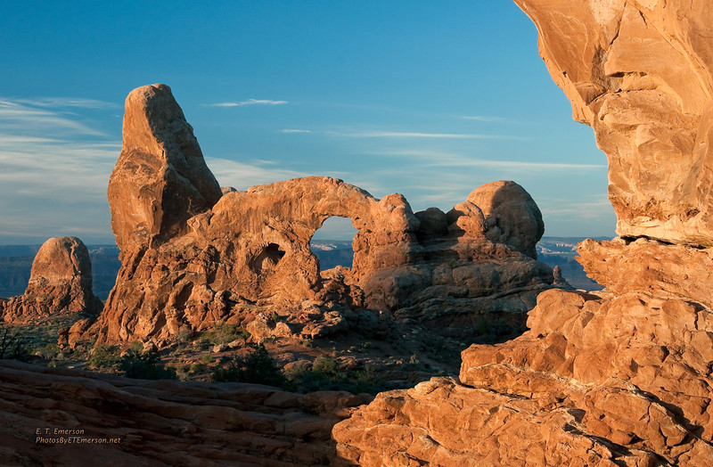 Turret Arch viewed behind the North Window at Sunrise