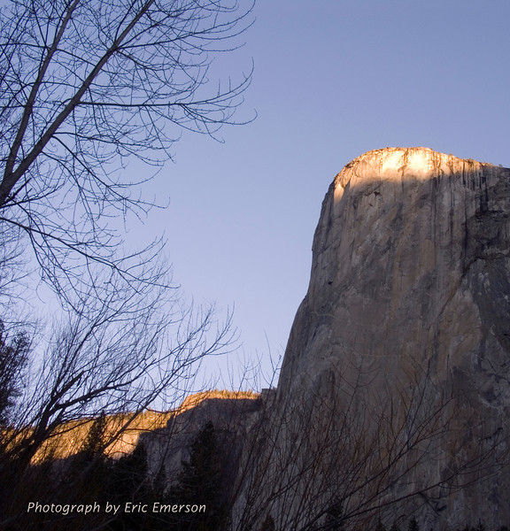 First Morning Light on El Cap