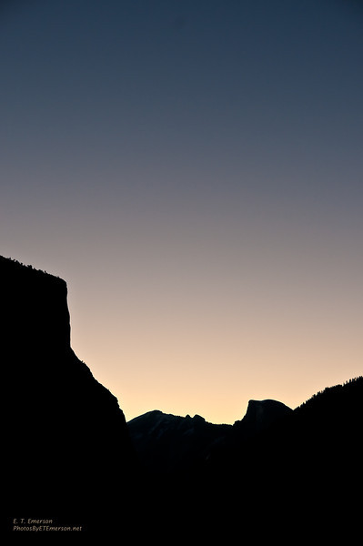 Yosemite Skyline at Sunrise
