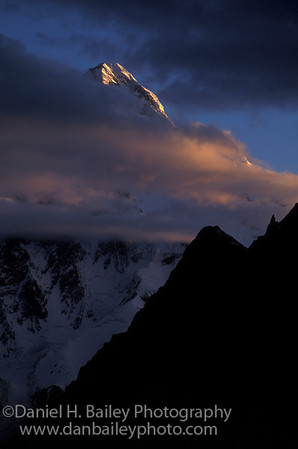 Sunrise on K2. Karakoram Himalayas, Paksitan