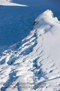 Peak at the edge of the Ruth Amphitheater, Denali National Park, Alaska