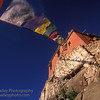 Buddhist Monastery and Prayer flags, Ladakh, India