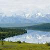 The Alaska Range relfecting in Wonder Lake, Denali National Park, Alaska