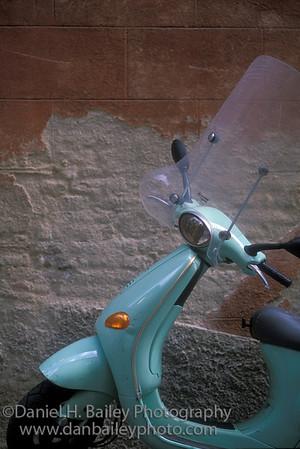 Vespa scooter, Siena, Italy