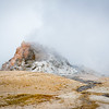 Dome Geyser Slumbering in the Fog